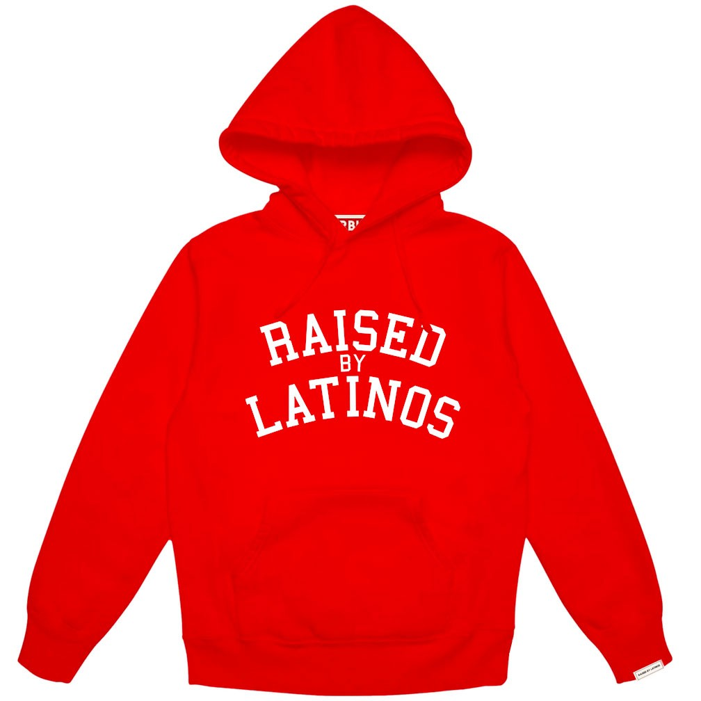 Red Hoodie white College letters
