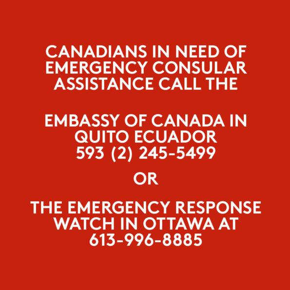 CANADIANS IN ECUADOR (COVID-19)